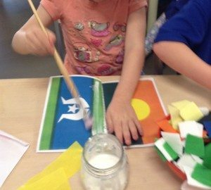 Kinder Flag Making