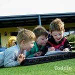 Jenny's ELC Epsom learning on the grass