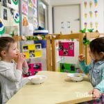 kids eating from bowls