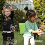Jenny's ELC Maiden Gully playing with bubbles