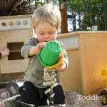 Jenny's ELC Maiden Gully fun with a bucket of sand
