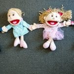 Jenny's ELC Maiden Gully soft toys holding hands